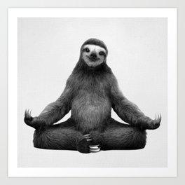 Sloth Yoga Art Print Art Print