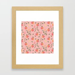 Peachy pattern Framed Art Print