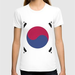 South Korea flag emblem T-shirt