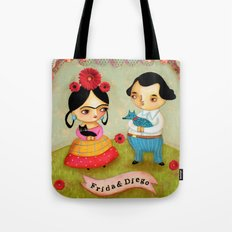Frida & Diego painting Tote Bag