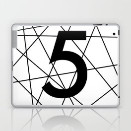Prime number 5 / minimalist design Laptop & iPad Skin