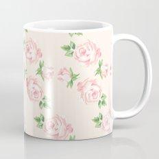 Pink Vintage Roses Pattern Mug