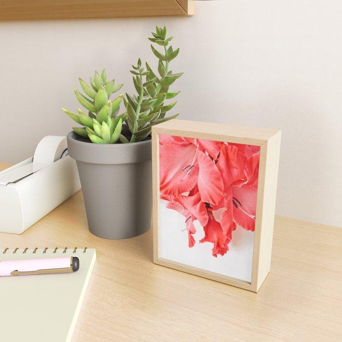 Coral Cascade Framed Mini Art Print