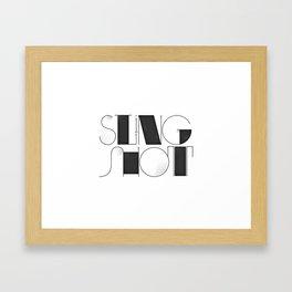 Sling Shot Lettering Framed Art Print