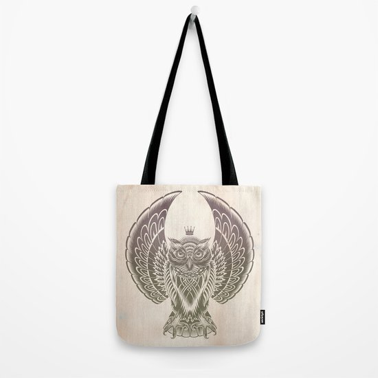 Silent Flight (Owl Wings) Tote Bag