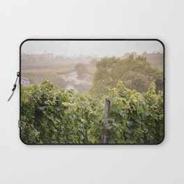 Small town view from vineyard Laptop Sleeve