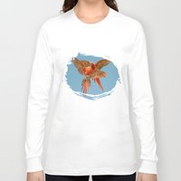 karu kara Long Sleeve T-shirts featuring INFLIGHT FIGHT by Catspaws