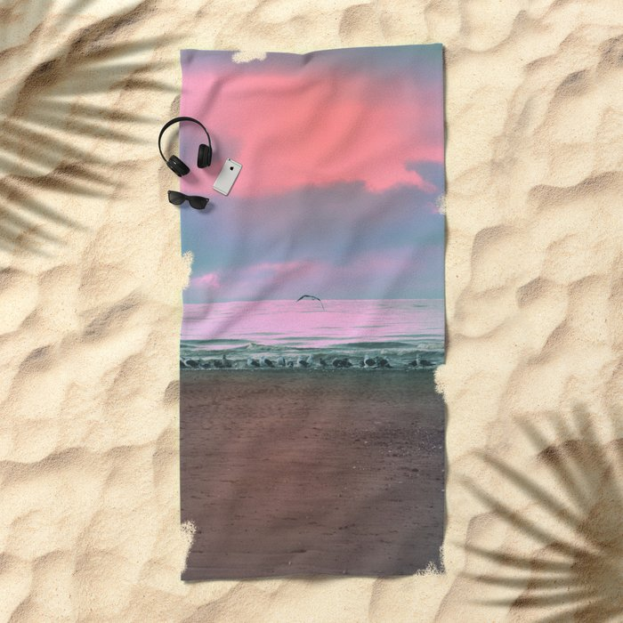 The Seagulls 4 Beach Towel