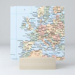 World Map Europe Mini Art Print