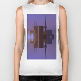 Skyline Symmetry in Toronto, Ontario  Biker Tank