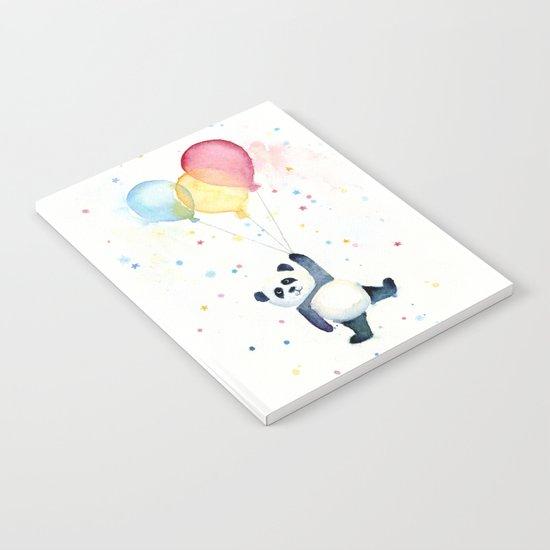 Birthday Panda Balloons Notebook