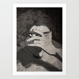 Falling Inside the Black Art Print