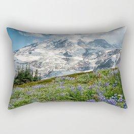 Scenic Landscape Art, Mt. Rainier, Mt. Rainier National Park, Paradise Rectangular Pillow