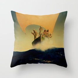 """The Pirate Ship"" by Maxfield Parrish Throw Pillow"