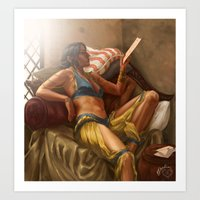 dragon age Art Prints featuring Dragon Age: Josephine Montilyet by Rhoda Perdition