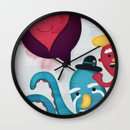 Pushing Love Like Pimps Wall Clock