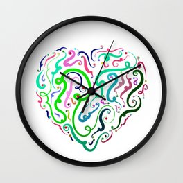 Heart Graphic by LH Wall Clock