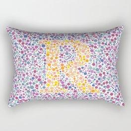 """""""R"""" Eye Test Full Rectangular Pillow"""