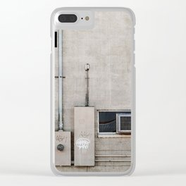 Back Alley Abstract De Sijl Clear iPhone Case