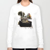 montreal Long Sleeve T-shirts featuring Chairs of Montreal by Salgood Sam