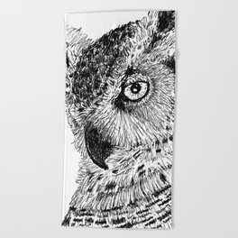 Ink Owl Beach Towel