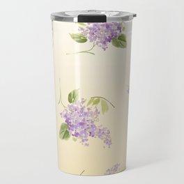 floral lilac Travel Mug