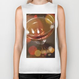 Lights Glistening in an Evening Drink Biker Tank