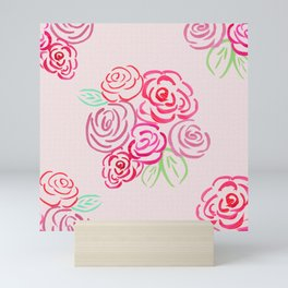 Glorious Rose bunch Mini Art Print