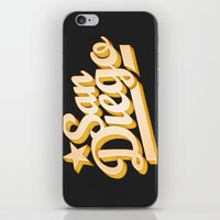 san diego iPhone & iPod Skins featuring San Diego by GetSolidGold