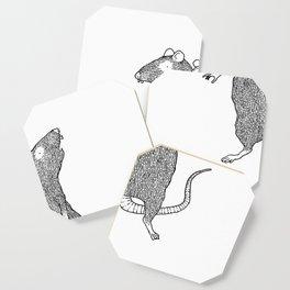 Two Headed Rat, I Love You Coaster