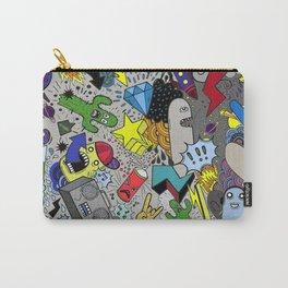 CARTOON GRAFFITI GREY Carry-All Pouch