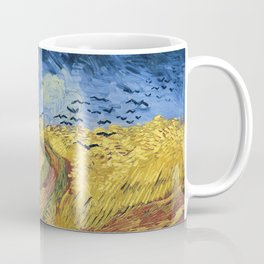 Wheatfield with Crows by Vincent van Gogh Coffee Mug