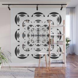 Optical Black and White Peace Mandala Wall Mural