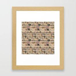 Library Print Framed Art Print