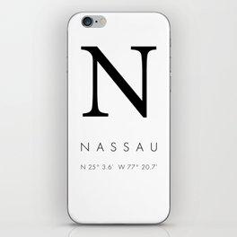 25North Nassau iPhone Skin