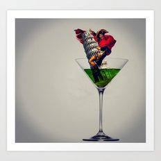 MixMotion: French Italian Art Print
