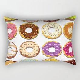 Vector Donuts Rectangular Pillow