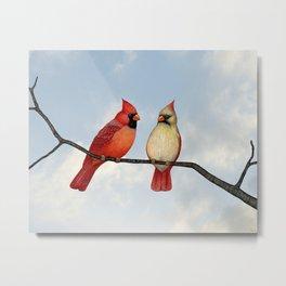cardinal couple Metal Print