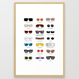 Cinema Sunglasses Framed Art Print