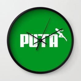 PUTA - PUMA PARODY Wall Clock