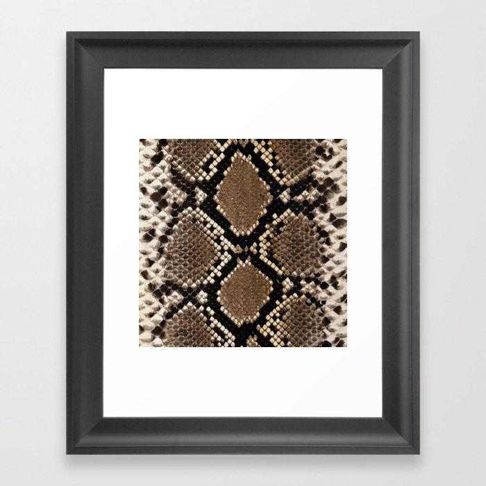Faux Python Snake Skin Design Gerahmter Kunstdruck