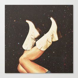 These Boots - Space Canvas Print
