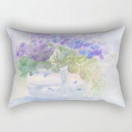 Violets & Pansies Rectangular Pillow