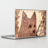 yorkie Laptop & iPad Skins featuring Yorkie by Angela Rizza