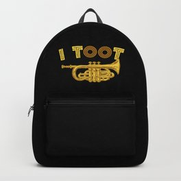 I Toot | Trumpets Music Instrument Backpack