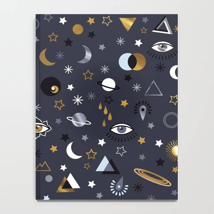 Galaxy ( gold and silver sky)  Notebook