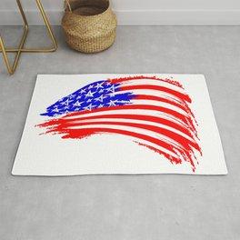 USA Sketched Flag Rug