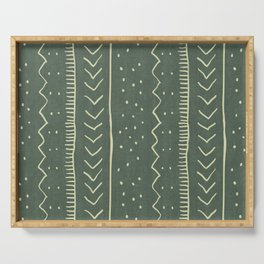 Moroccan Stripe in Leaf Green Serving Tray