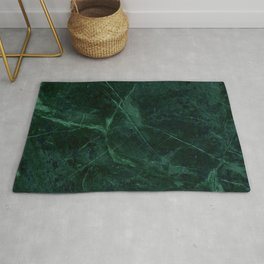 Green Marble Pattern Rug