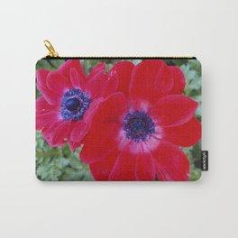 Velvet Red Poppy Anemone I Carry-All Pouch